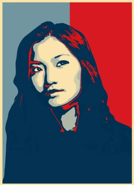 Queen of Bhutan (Obama Hope Poster style)